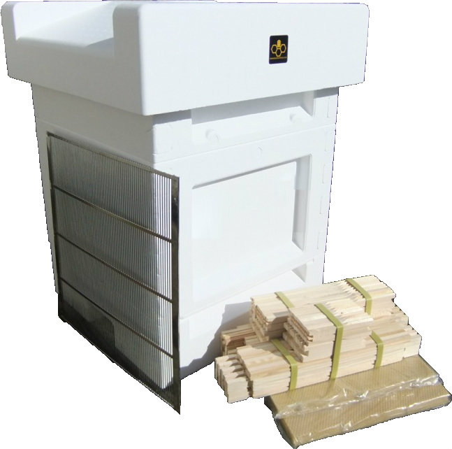 Jumbo (14x12) National hive, including frames and foundation