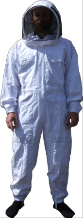One piece coverall with veil