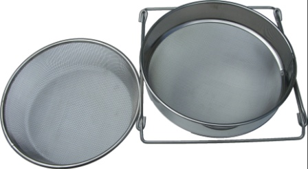 Stainless steel double honey sieve